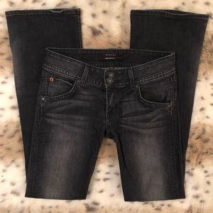 Hudson Jeans Black and Grey Midrise Bootcut